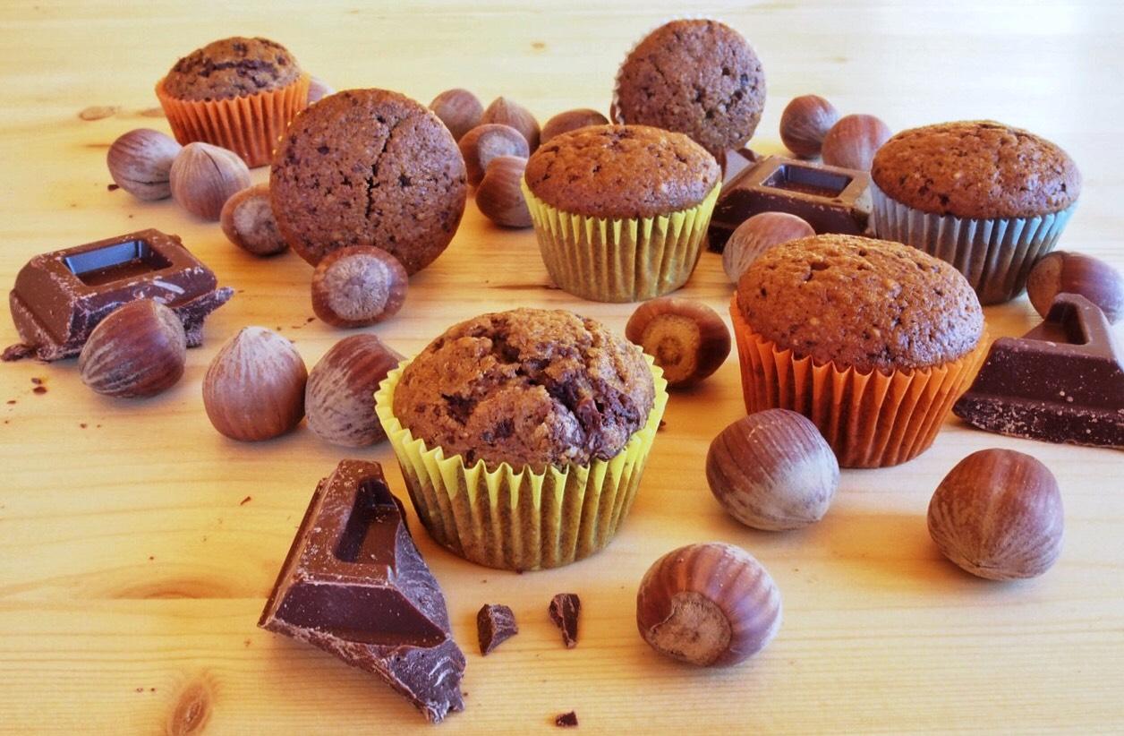 Mini Muffin cioccolato e nocciole