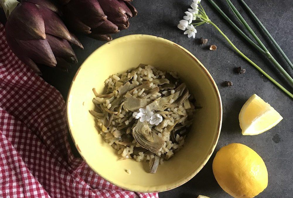 Risotto ai carciofi e aglio selvatico
